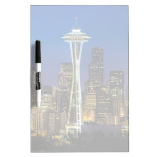 Image of Seattle Skyline in morning hours. Dry Erase Board