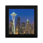 Image of Seattle Skyline in morning hours. Keepsake Boxes