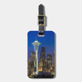 Image of Seattle Skyline in morning hours. Luggage Tag