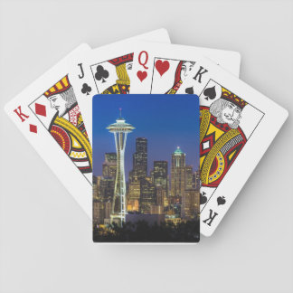 Image of Seattle Skyline in morning hours. Playing Cards