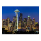Image of Seattle Skyline in morning hours. Postcard