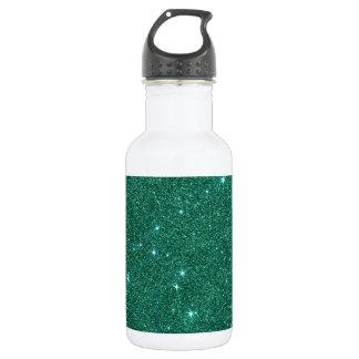 Image of teal glitter 532 ml water bottle