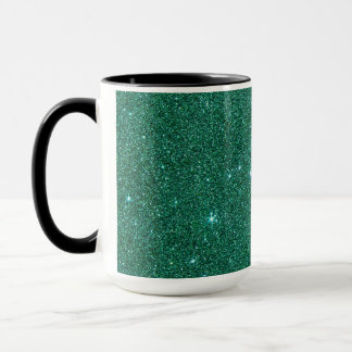 Image of teal glitter mug