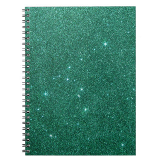 Image of teal glitter notebooks