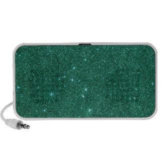 Image of teal glitter iPod speakers