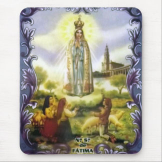 Image of the apparition Our Lady of Fatima Mouse Mat