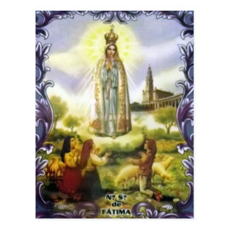 Image of the apparition Our Lady of Fatima Postcard