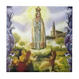 image of the apparition Our Lady of Fatima Tile