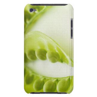 Image of three open pea pods, extreme close-up iPod touch cover