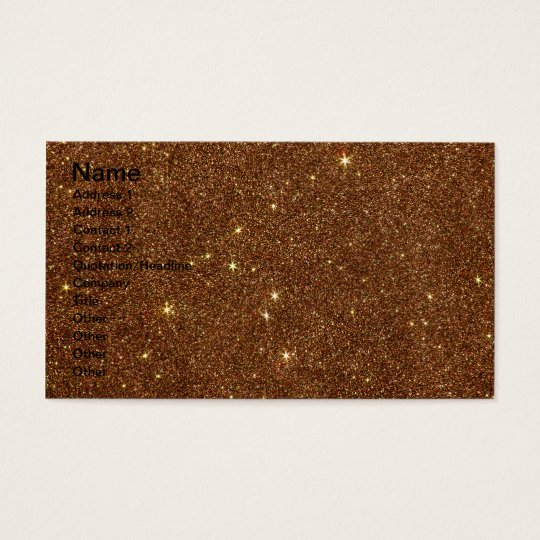 Image of trendy copper Glitter Business Card