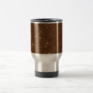 Image of trendy copper Glitter Travel Mug