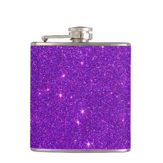 Image of Trendy Deep Purple Glitter Hip Flask