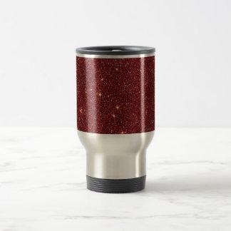 Image of trendy red glitter travel mug