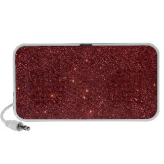 Image of trendy red glitter travelling speakers