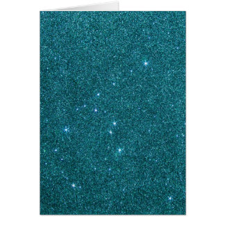 Image of trendy teal glitter card