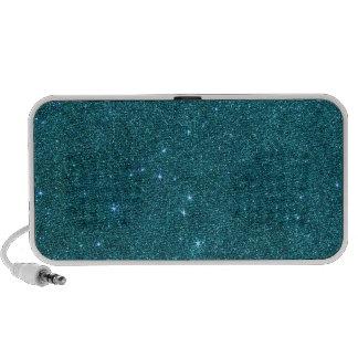 Image of trendy teal glitter iPod speaker