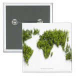 image of world map 15 cm square badge