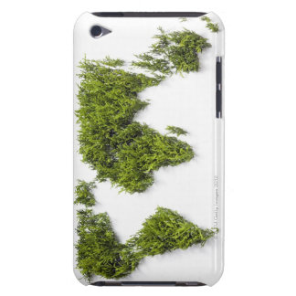 image of world map barely there iPod cases