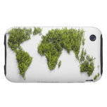 image of world map iPhone 3 tough case