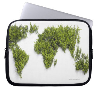 image of world map laptop sleeve