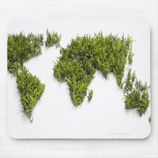 image of world map mouse mat