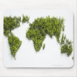 image of world map mouse pad