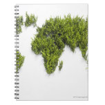 image of world map spiral note book