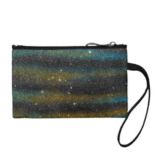 Image of yellow and turquoise Glitter Coin Purse