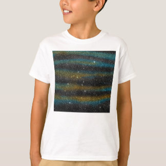 Image of yellow and turquoise Glitter T-Shirt