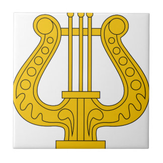 Image USSR military musicians insignia 1936 Ceramic Tiles