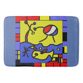 Image with fish modern art bath mat