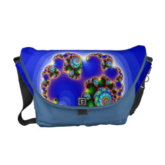 imagem abestrato azul courier bag