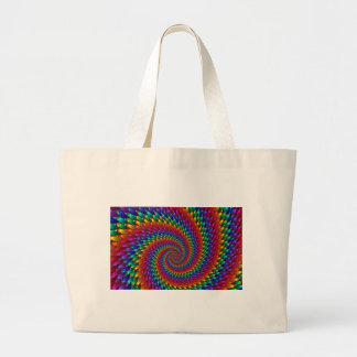 imagem abtrato em espiral jumbo tote bag