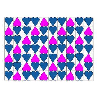 imagem de corações business card template