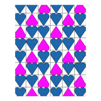 imagem de corações full color flyer