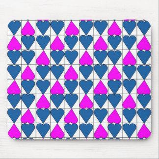 imagem de corações mouse pad