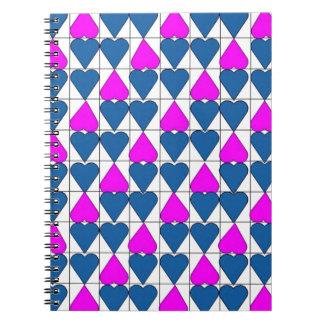 imagem de corações notebook