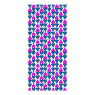 imagem de corações customized rack card
