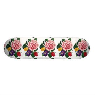 imagem de rosas 20.6 cm skateboard deck