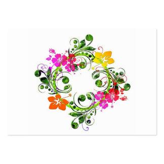 imagem floral em circulo business card