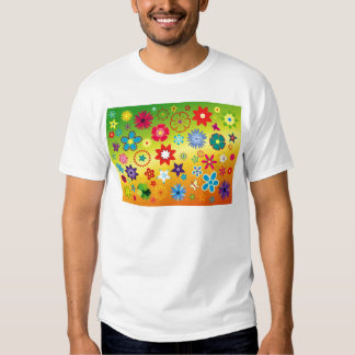 imagem flores variadas em fundo colorido shirts