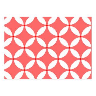 imagem formas geometricas  branco em fundo vermelh pack of chubby business cards