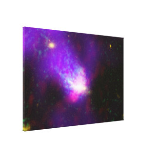 Images from Several Telescopes Combined to Show Stretched Canvas Print