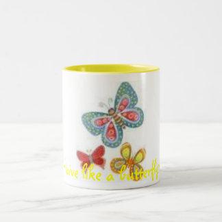 images, ~Live like a butterfly~ Two-Tone Mug