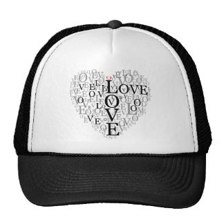 images love letter mesh hats