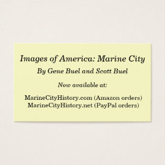 Images of America: Marine City Business Card