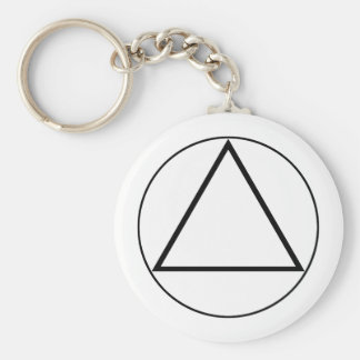 Images of number 3: the triangle basic round button key ring