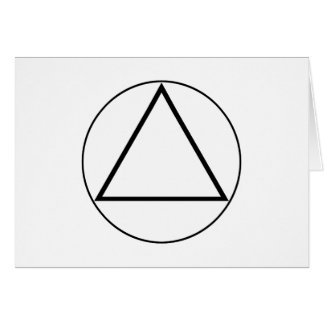 Images of number 3: the triangle greeting card