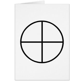 Images of number 4: the traditional cross greeting card