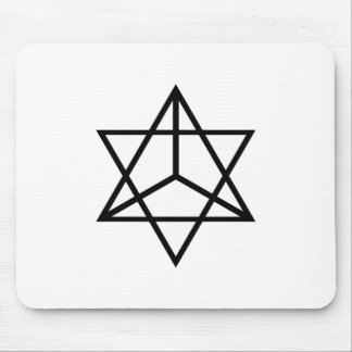 Images of number 7: the tetrahedral star mouse pad
